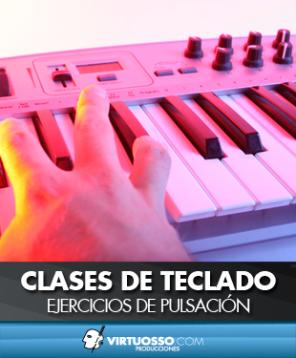 Clases de teclado ejercicios pulsación