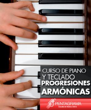 Progresiones armónicas en piano y teclado
