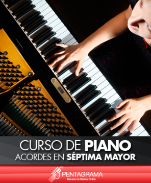 Curso de piano acordes en septima mayor