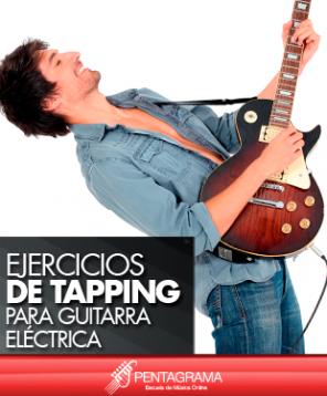 Ejercicios de tapping para guitarra electrica