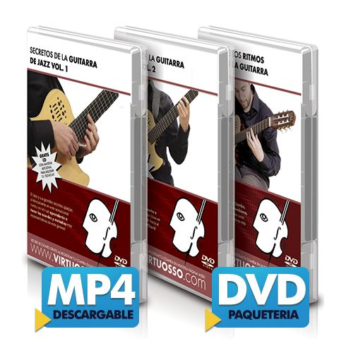 Curso de guitarra de jazz disponible online y DVD