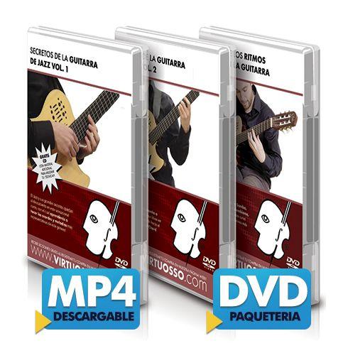 Curso de guitarra de jazz disponible online y DVD